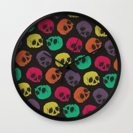 Colorful Skull Pattern Wall Clock