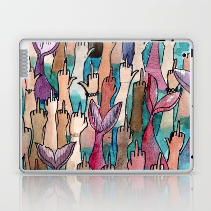 cool mermaids Laptop & iPad Skin