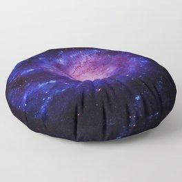 Spiral gAlAxy : Purple Blue Floor Pillow