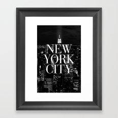 New York City Vogue Typography Manhattan Skyline Framed Art Print