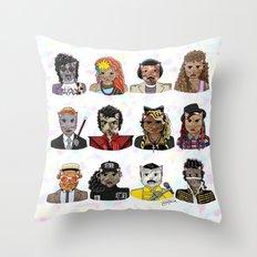 80s Cats Throw Pillow