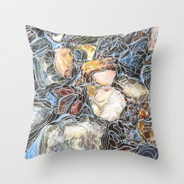 River Rocks #3 Throw Pillow