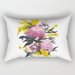 pivoine violette avec jaune Rectangular Pillow