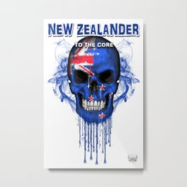 To The Core Collection: New Zealand Metal Print