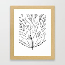 Amazing Leaves Framed Art Print