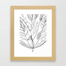 Amazing Leaves Framed Art Print