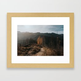 Autumn Hike - Landscape and Nature Photography Framed Art Print