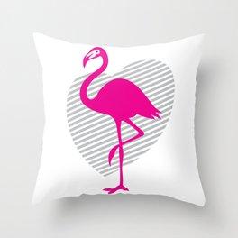 love flamingos Throw Pillow