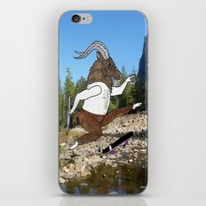 Baphomet's sixth failed attempt over a creek in Yosemite, which resulted in him focusing his board. iPhone & iPod Skin