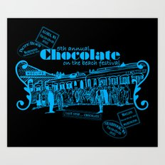 5th Annual Chocolate on the Beach Festival Art Print