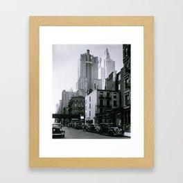 New York Vintage pictures (circa 1935) Framed Art Print