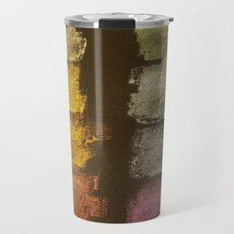 Metallic Watercolor on Black Cardstock Travel Mug