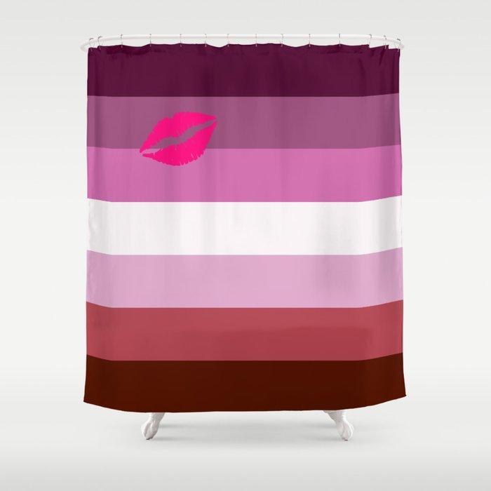 Lipstick Lesbian Shower Curtain
