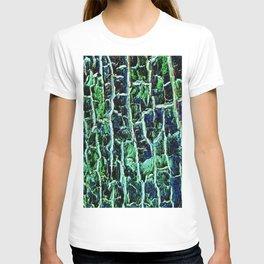 Sparkling Emerald Tree Bark T-shirt