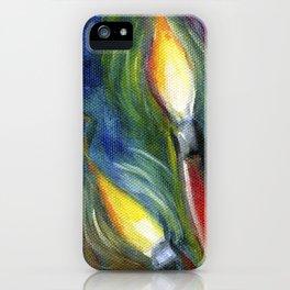 Illuminated Paintbrushes iPhone Case