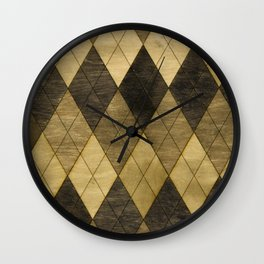 Wooden big diamond Wall Clock