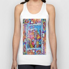 Abstract Steam Punk Music Collage Unisex Tank Top