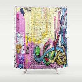 gRAfitti mixed media Shower Curtain