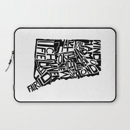 Typographic Connecticut Laptop Sleeve