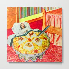 DREAMS OF BEING TINY AND OF LOVE OF FRUIT SALAD Metal Print