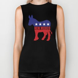 New Mexico Democrat Donkey Biker Tank