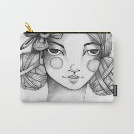 JennyMannoArt Graphite Illustration/Kelly Carry-All Pouch