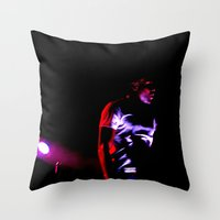 childish gambino Throw Pillows featuring Childish Gambino by Ashley Overton