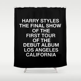 Harry Styles Final Show Shower Curtain