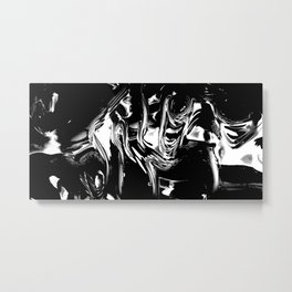 Engraving wavy shapes illusion Metal Print