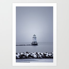 Burlington Breakwater North Lighthouse Art Print