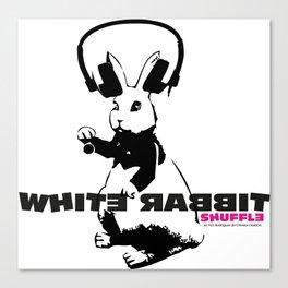 White Rabbit T-shirt Canvas Print