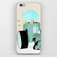 karen hallion iPhone & iPod Skins featuring Karen form Chicks & Wheels by Simone Massoni
