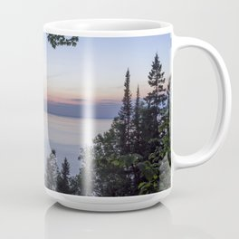 Tree Framed Lake Superior Twilight Coffee Mug