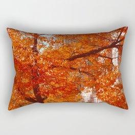 New York City Foliage Rectangular Pillow