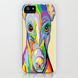 Greyhound Close Up iPhone Case