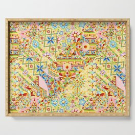 Sunshine Crazy Quilt (printed) Serving Tray
