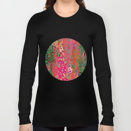 Tropical Summer colorful botanical pattern Long Sleeve T-shirt