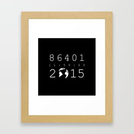 86401 Leap Second 2015 (white version) Framed Art Print