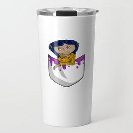 A Lil Coraline In My Pocket Travel Mug