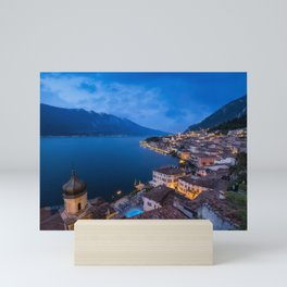 Limone sul Garda Blue Hour Mini Art Print