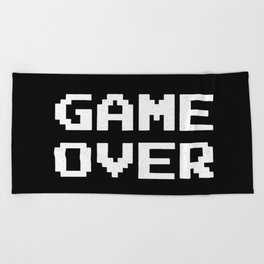 Game Over Beach Towel