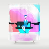 shopping Shower Curtains featuring Shopping by IOSQ