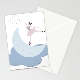 Ballerina on the Moon Stationery Cards