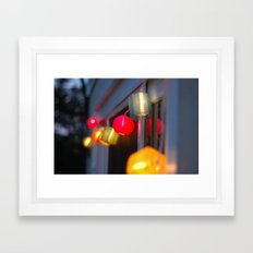 Paper Lanterns Framed Art Print