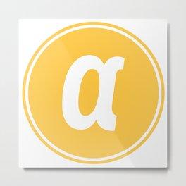 Agoras cryptocurrency logo Metal Print