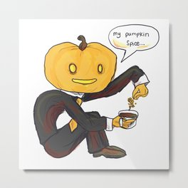 pumpkin spiceman Metal Print