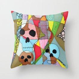 Skulls&Buddha 43 Throw Pillow