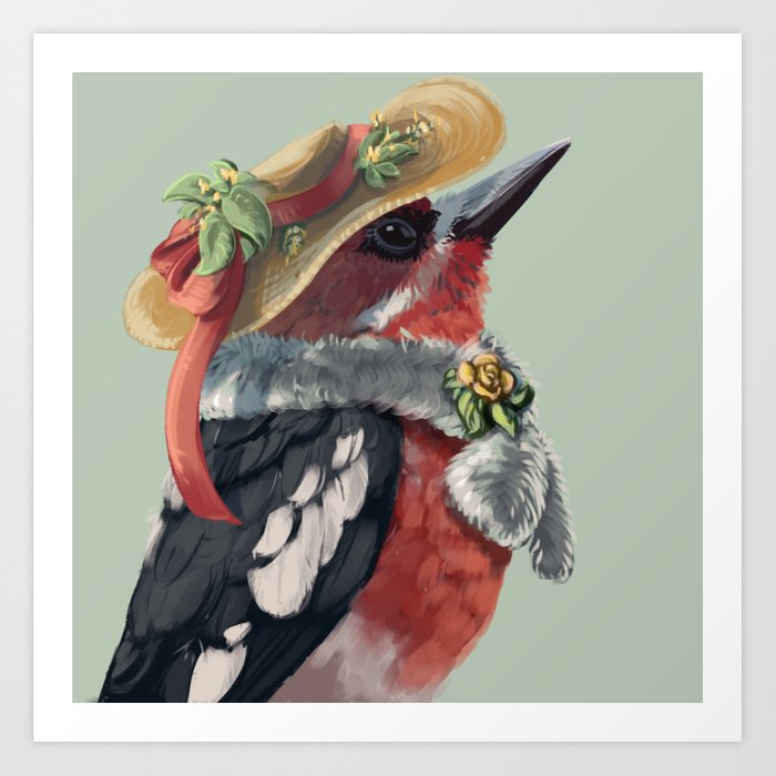 Red-breasted Sapsucker Art Print by Lauren Helton - X-Small (s6-13699665p4a1v45) photo