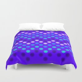 Digital Embroidery in Purple Duvet Cover