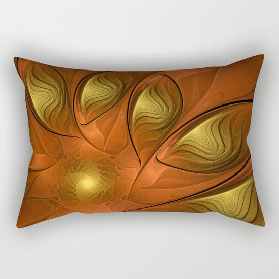 Fantasy in Copper and Gold Rectangular Pillow